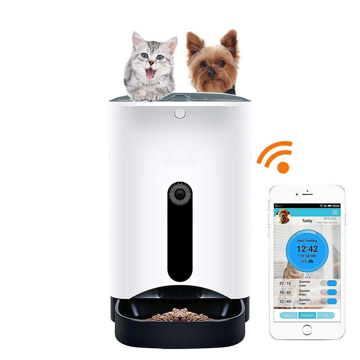 intelligent hd controlled station automatic with iphone gogs dp fi mobile pet by or com for feeder app cats control android phone wi amazon remote camera