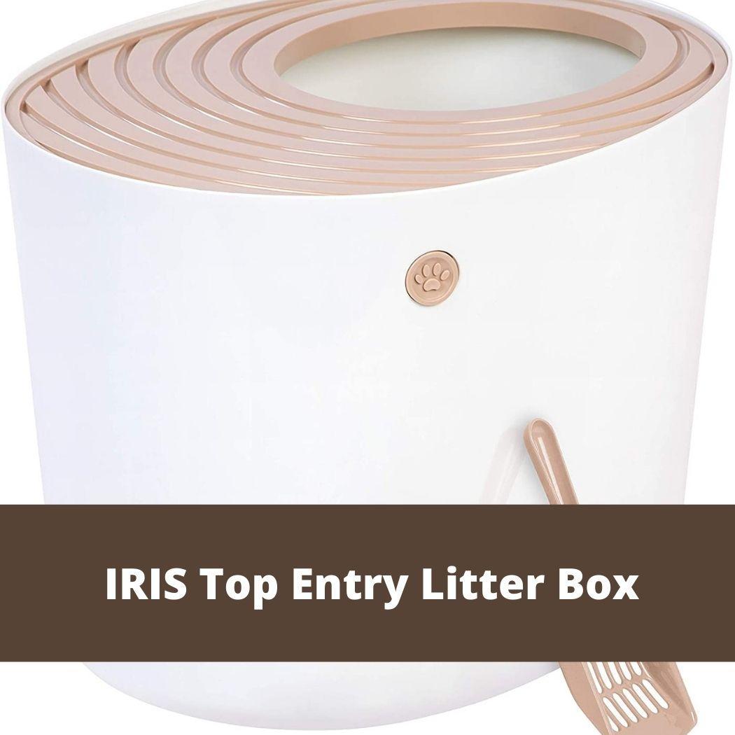 IRIS Top Entry Litter Box
